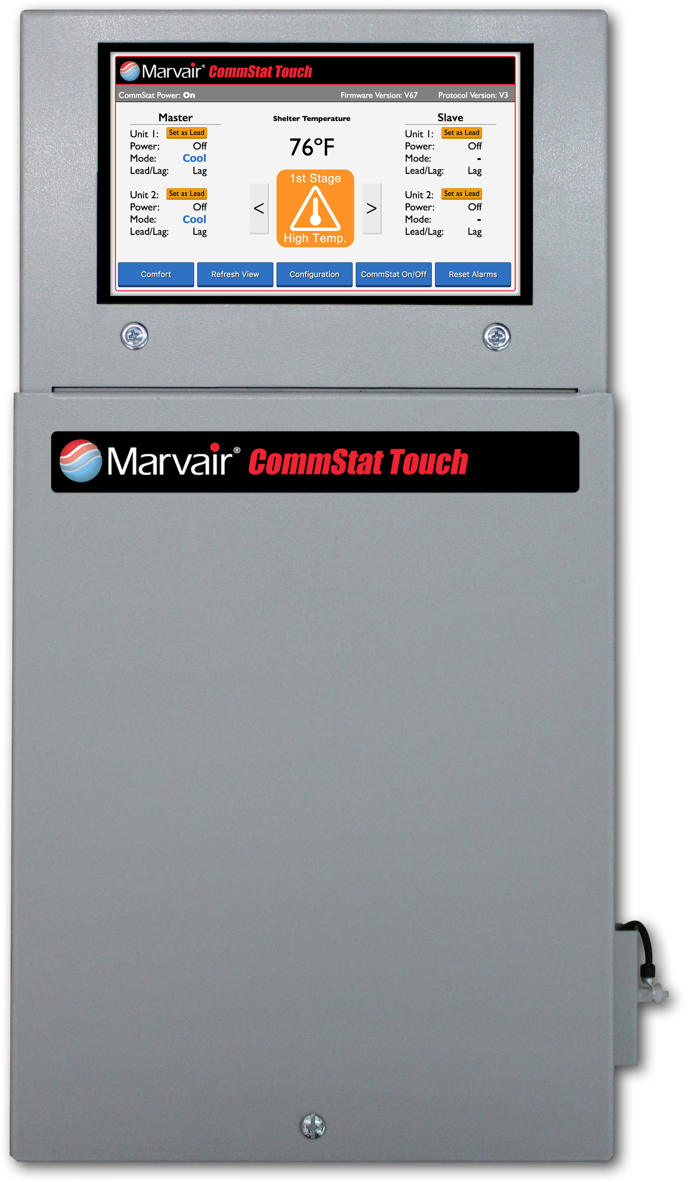 Marvair CommStat Touch Telecom HVAC Control