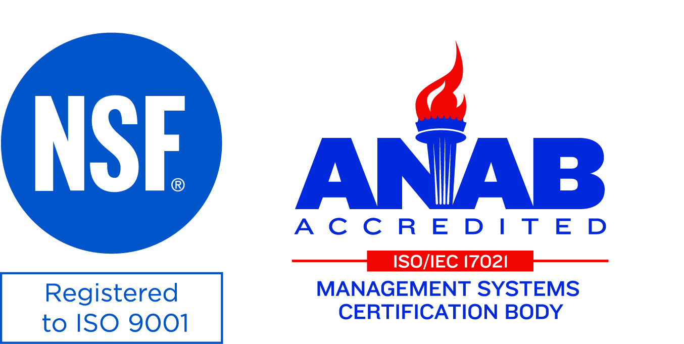 Registered to ISO 9001:2015 ANAB