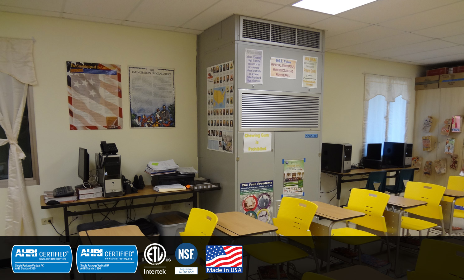 Classroom Hvac Design ~ Scholar interior wall mount air conditioners and heat pumps