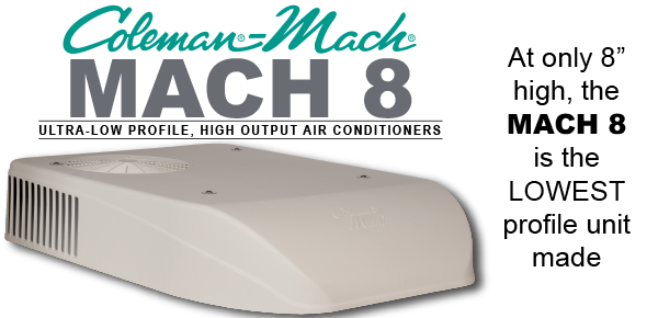 Superb Coleman Mach   Mach 8 Ultra Low Profile AC Units For RVs | Airxcel