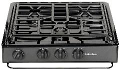 3200A Convent Burner Black Slide-In Cooktop with Deluxe Grate