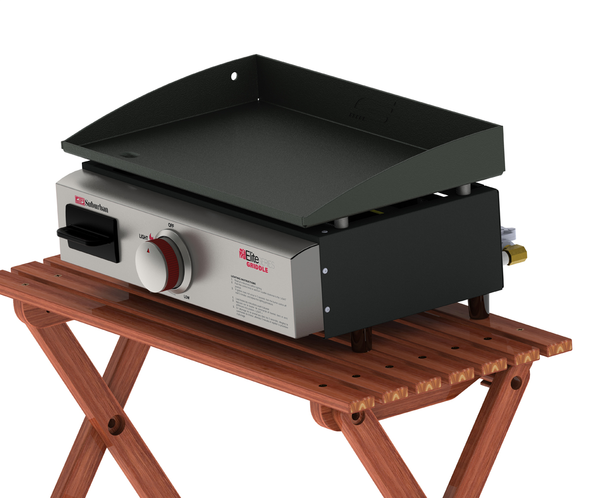 Introduction Of Its Elite Series Outdoor Griddle The Features A Cast Iron Plate For Universal Cooking And Grease Collection