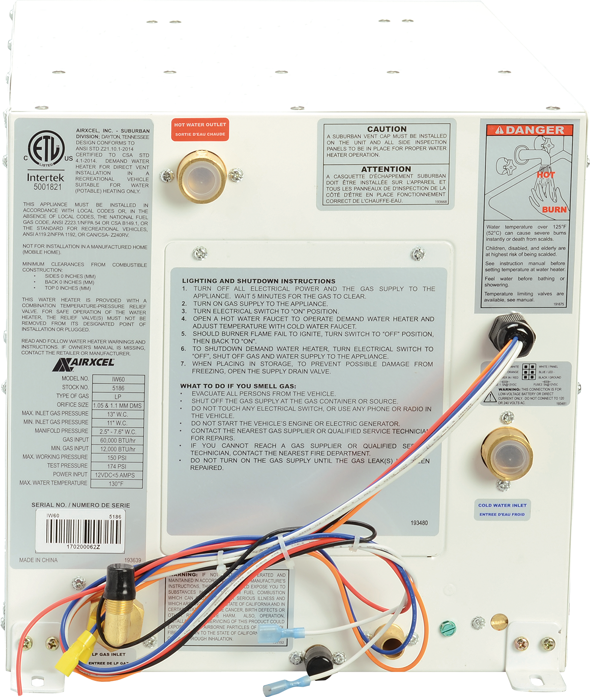 Nautilus On Demand Water Heater Airxcel Rv Tank Sensor Wiring Diagram 5186a Odwh 08