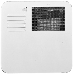6261APW Radius Corner Water Heater Door_Polar White